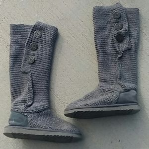 UGG gray tall sweater boots size 9